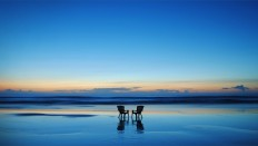 Two Empty Chairs on The Beach - Photography Wallpapers