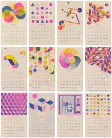 2015 Isometric Risograph Calendar – Fubiz™