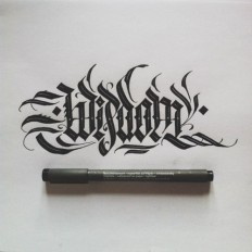 Calligraphy by Daniel Letterman on Inspirationde