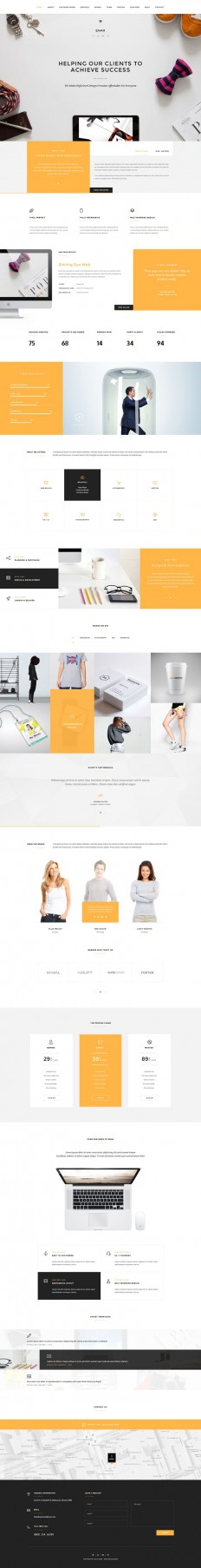 Enax – One Page MultiPurpose Parallax on Inspirationde