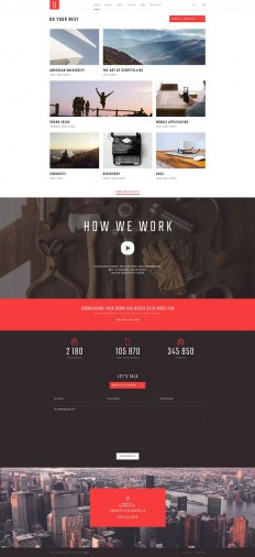 SAGE — Free PSD Template on