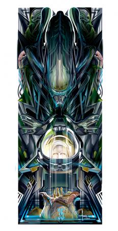 ALIEN 35 Vector Poster Tribute | Abduzeedo Design Inspiration