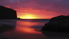 Purple Sea Sunset - Photography Wallpapers
