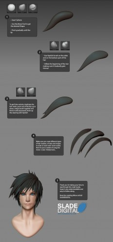 Male Head Hair Tutorial by SladeDigital on DeviantArt