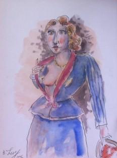 "Saatchi Art Artist: bono hlevi; Gouache 2013 Painting ""female nude"""