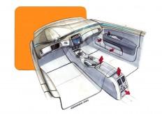 Skoda Superb interior design sketch - Car Body Design