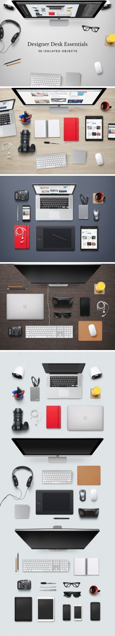 Designer Desk Essentials | GraphicBurger