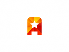 A + Star Logo Design by Dalius Stuoka