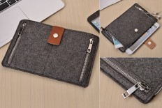 Grey Felt iPad Sleeve - Bonjourlife