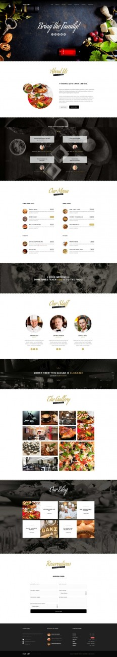 Hungry – A One-Page Restaurant Template on Inspirationde