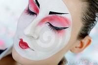 Royalty Free Stock Photo: Japan geisha woman with creative make-up