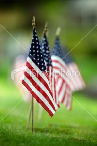 Small American Flags | Stock Photo | iStockphoto.com