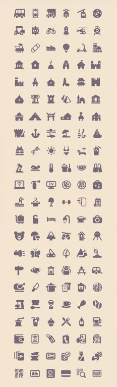 Freebie: Tourism & Travel Icon Set (100 Icons, PNG, SVG) - Smashing Magazine