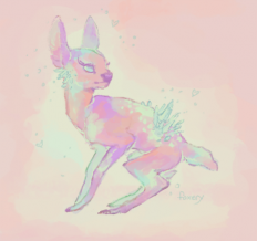glassghosts - a crystal fawn from when my internet was down