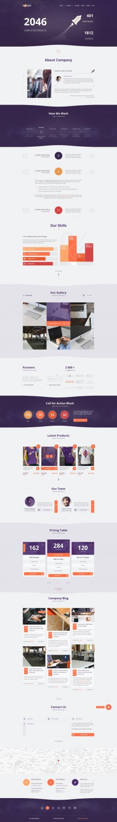 Rocket Creative Multipurpose Template on Inspirationde