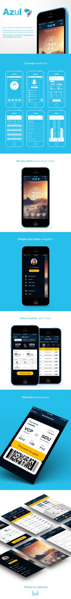 Azul Airlines – Iphone App on Inspirationde