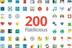 Flatilicious 200 icons ~ Icons on Creative Market