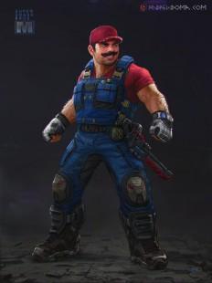 ArtStation - Mario - Super Smash Bros XPS, Andrew Doma