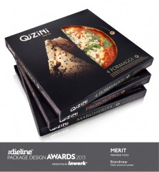 The Dieline Package Design Awards 2013: Prepared Food, Merit - Qizini Pizza — The Dieline