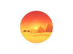 Desert by sola