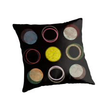 """12 circles"" Throw Pillows by metron 