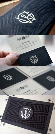 Beautifully Textured Letterpress Business Card Design on Inspirationde