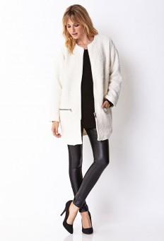 Collarless Bouclé Coat | FOREVER21 - 2073185642