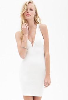 V-Neck Bodycon Dress | FOREVER21 - 2000086451