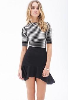 Textured Knit Fluted Skirt   FOREVER21 - 2000084955