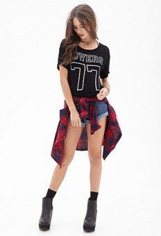 Lovers 77 Knit Tee   FOREVER21 - 2052289288