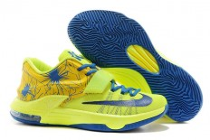 Fireworks Nike Kevin Durant Sneakers KD 7 VII Royal Blue Volt Yellow Cheap Online