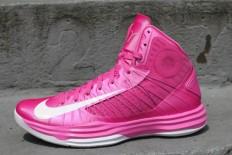 Women Nike Hyperdunk X 2012 Pinkfire II/White/Wolf Grey Shoes
