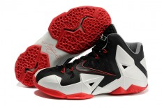 Nike Basketball LeBron 11 Black Sport Red White Bred