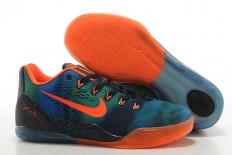 "Men Size Zoom Kobe IX 9 EM ""Peach Jam"" Low-Top Black Blue Green Orange Sports Training Shoes"