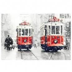 Wall decor SALE Winter Photography Tram photography by gonulk