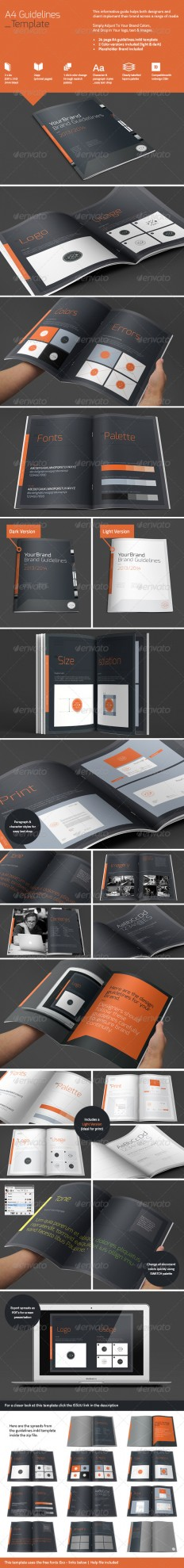 A4 Brand Guidelines | GraphicRiver