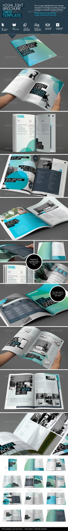 Highlight Brochure Template | GraphicRiver