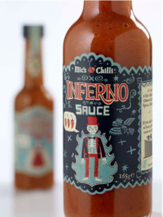 Mic's Chili Hot Sauce Package Design - Grits + GridsGrits + Grids