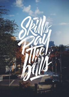 Skills pay the Bills | Hand lettering on Inspirationde