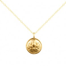 Gold Lotus Necklace | Priya Jewelry