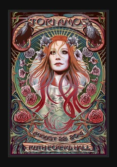 Tori Amos, Alphonse Mucha Inspired gig poster on