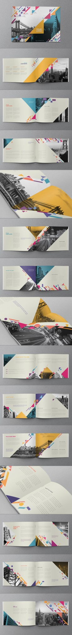 Colorful Shapes Brochure on