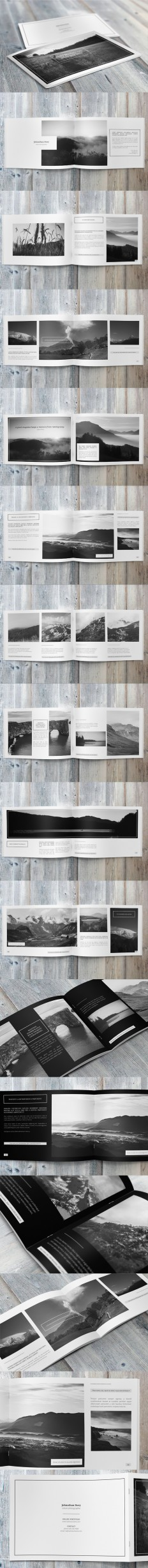 Minimalfolio Photography Portfolio A4 Brochure #5 on