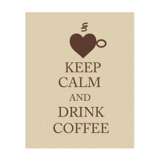 Keep Calm and Drink Coffee keep calm art keep calm by gonulk