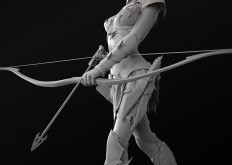 ArtStation - Dark Elf Archer WIP, Aaron Hunwick