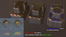 Skew you buddy! Making sense of skewed normal map details. - Polycount Forum