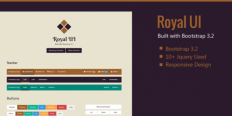 Royal UI - Bootstrap 3 Skin Theme