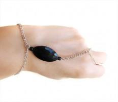 Black slave bracelet bracelet ring black jewelry ring by selenayy