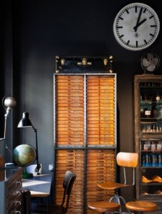 Old school explorers styled office - The Black Workshop — Designspiration