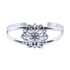 Full Bloom Lotus Cuff | Priya Jewelry